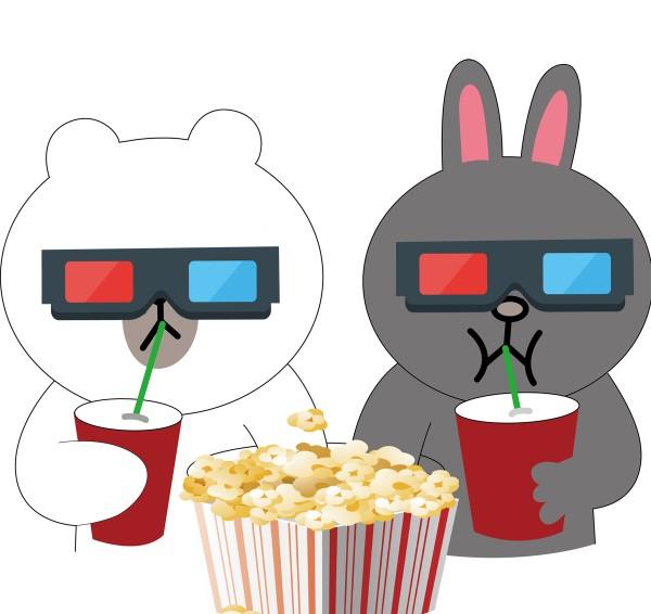 دو خرگوش که در سینما در حال دیدن فیلم هستند. - مطلب: مجهول به معلوم
